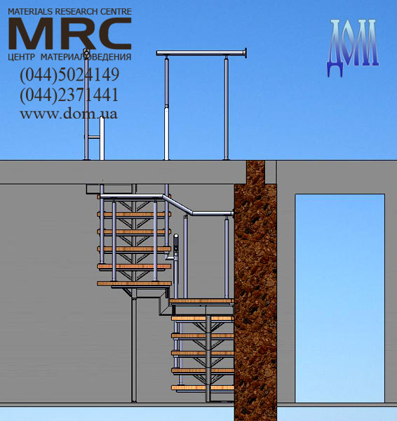Дизайн проект металлической лестницы
