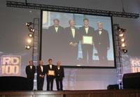 Юрий Гогоци с коллегами во время получения Международной награды