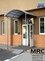 Canopy over entrance door