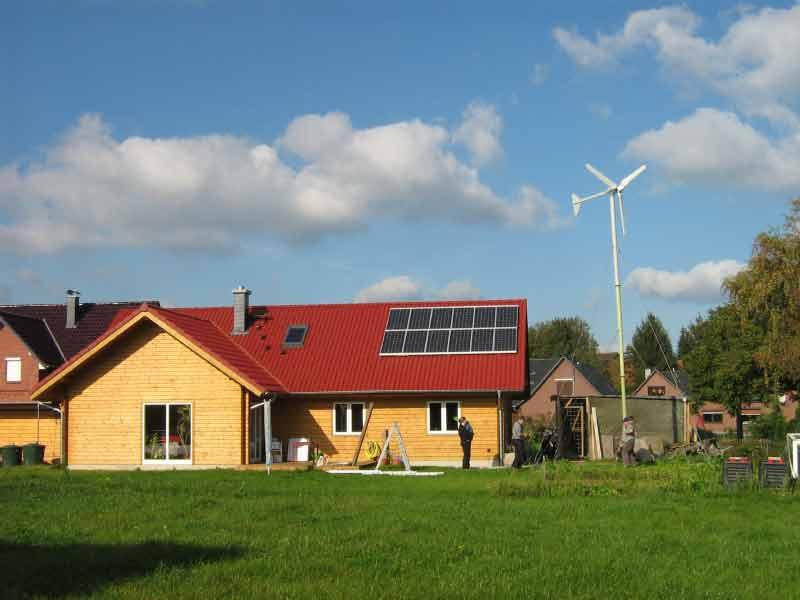 установка ветрогенератора для электроснабжения загородного дома